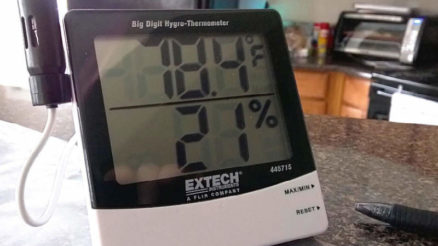 ExTech Instruments big digit hygo thermometer review