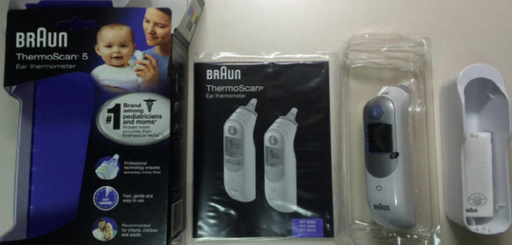 Braun hermoScan 5 IRT6500 digital ear thermometer